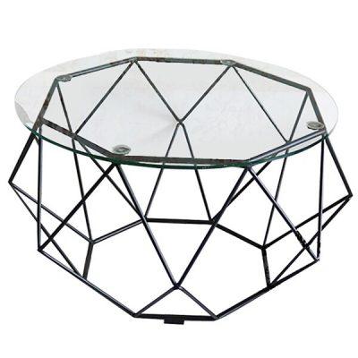 Bàn sofa kim cương khung sắt đen TT07