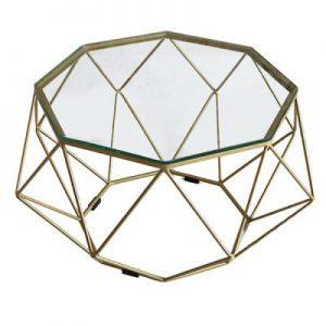 Bàn Sofa kim cương sơn nhũ vàng TT08