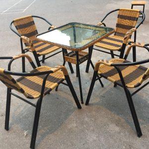 Bộ bàn ghế cafe mây nhựa TT82