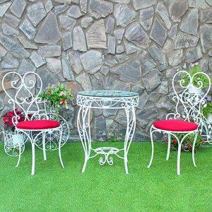 Bộ bàn ghế cafe sắt TT45