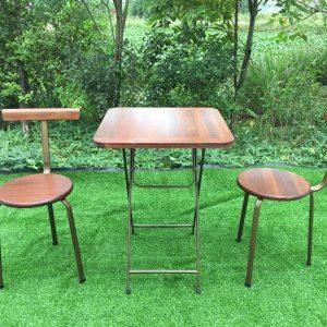 Bộ bàn ghế đôn Fansipan tựa 45cm