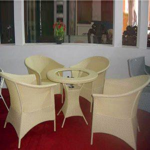 Bộ bàn ghế mây nhựa TT07