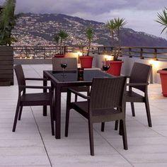 Bộ bàn ghế mây nhựa TT21
