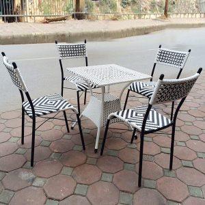 Bộ bàn ghế mây nhựa TT72