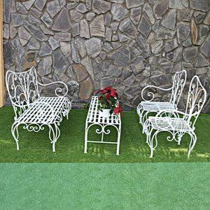 Bộ bàn ghế sắt nghệ thuật TT25
