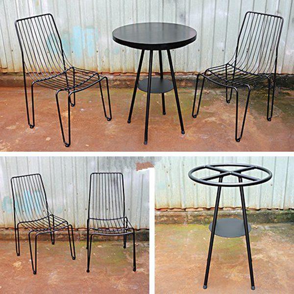 Bộ bàn ghế sắt nghệ thuật TT26