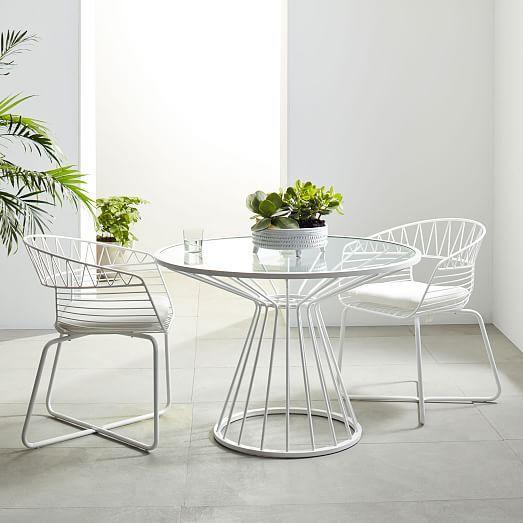 Mẫu 1 - Bộ bàn ghế cafe mặt kính tròn sắt nghệ thuật TT33