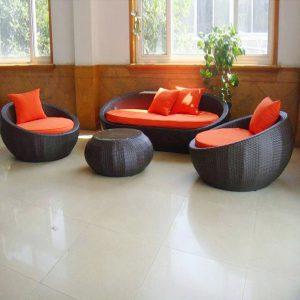 Bộ bàn ghế Sofa mây nhựa TT06