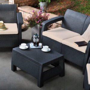 Bộ bàn ghế Sofa mây nhựa TT10