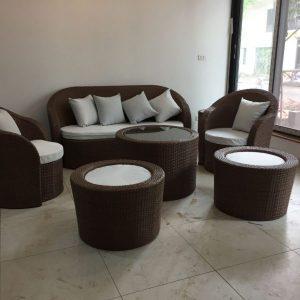 Bộ bàn ghế Sofa mây nhựa TT12