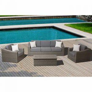 Bộ bàn ghế Sofa mây nhựa TT34