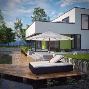 Giường bể bơi mây nhựa TT10