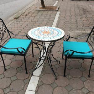 Bộ bàn ghế sắt Cafe TT39