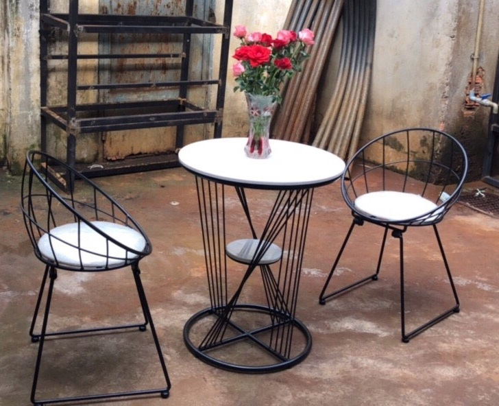 Bộ bàn ghế cafe sắt nghệ thuật sang trọng