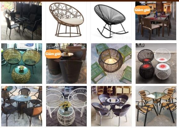 Bàn ghế cafe mây nhựa chất lượng, mẫu bền đẹp, giá bán tốt