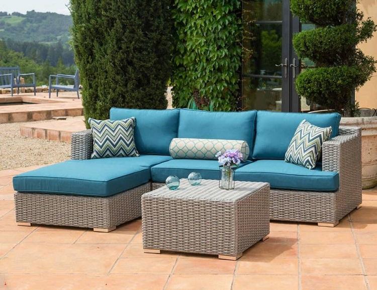 Bàn ghế nội thất Sofa mây nhựa có cấu tạo rắn chắc, bền bỉ theo thời gian