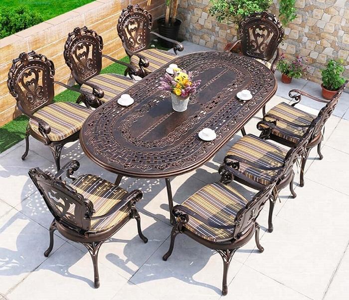 Các đặc điểm của bàn ghế sân vườn ngoài trời