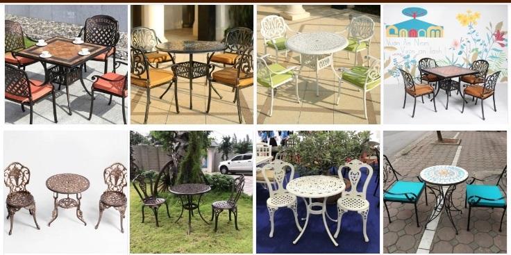 Các mẫu bàn ghế cafe sân vườn đẹp tại Thanh Tùng