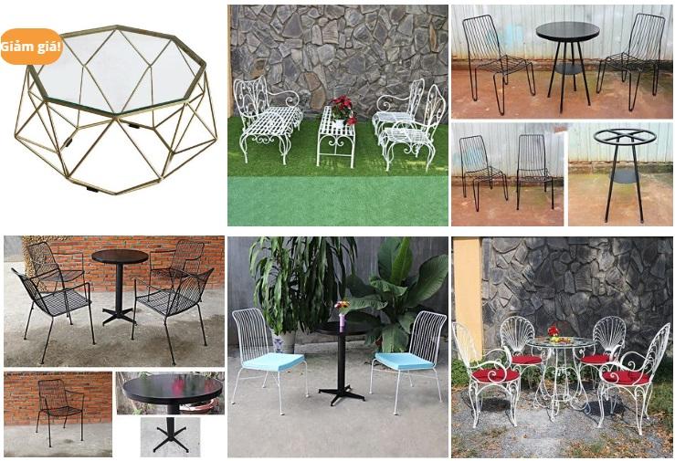 Các sản phẩm bàn ghế cafe đa dạng, chất lượng cao được Thanh Tùng phân phối